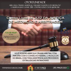 Curso Livre de Juiz da Justiça de Mediação e Arbitragem