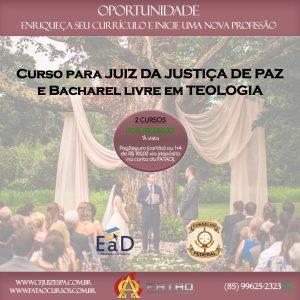 Curso para Juiz da Justiça de Paz e Bacharel Livre em Teologia
